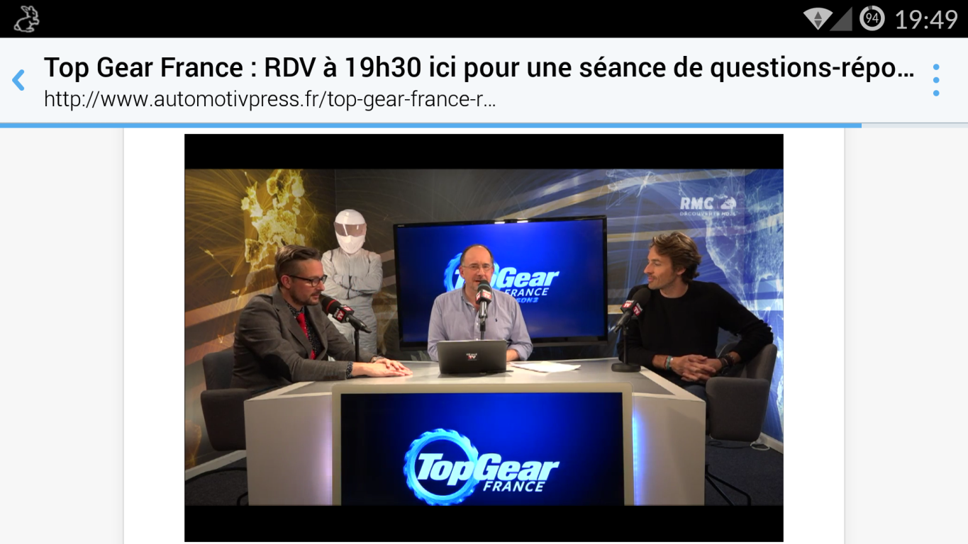 Live Top Gear France 10 Février 2016 - 19h30/20h30