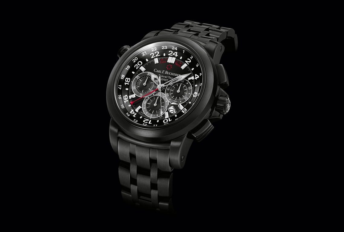 Carl F. Bucherer Chronographe Patravi TravelTec GMT Black