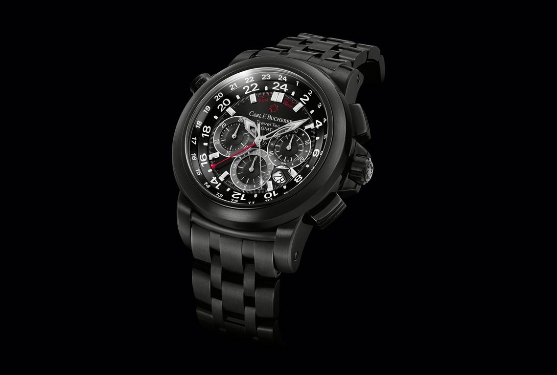 Carl F. Bucherer Chronographe Patravi TravelTec GMT Black