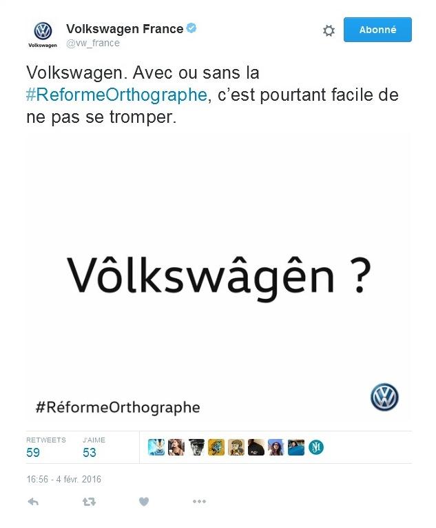 VW #RAi??formeOrthographe