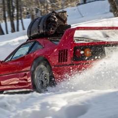 Une Ferrari F40 pour les sports d'hiver !