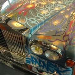 Eric Cantona et sa Rolls Royce Corniche