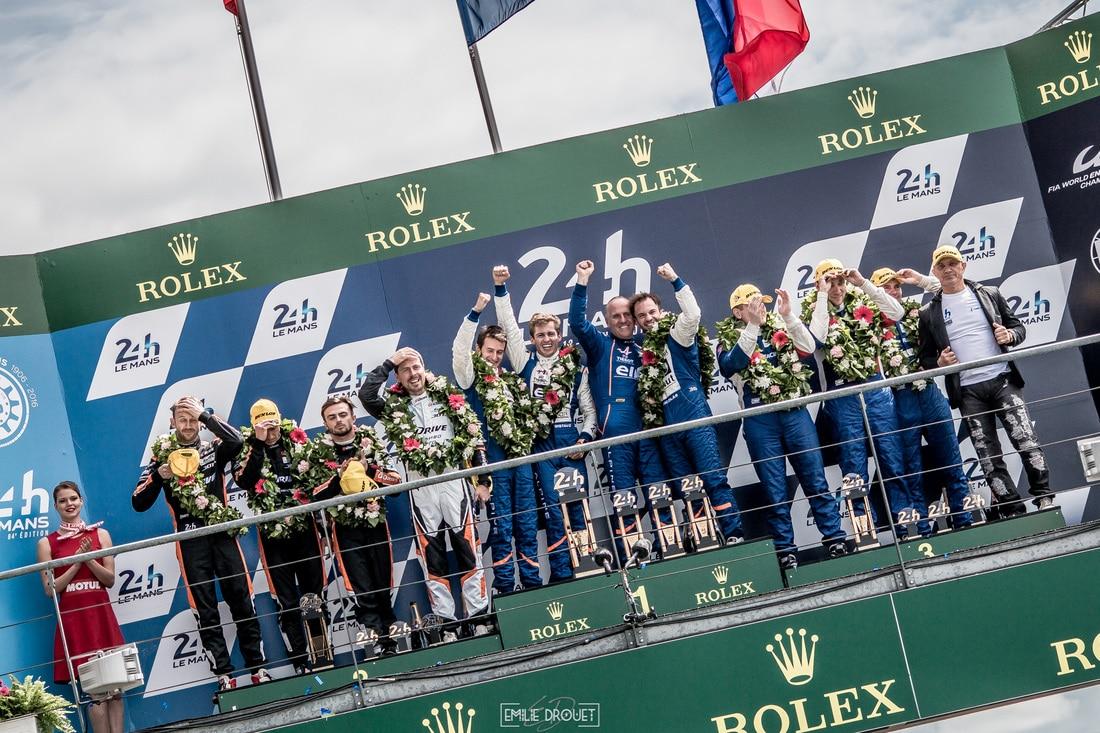 24 Heures du Mans 2016 - Course/Race - Emilie Drouet - Alpine podium LMP2