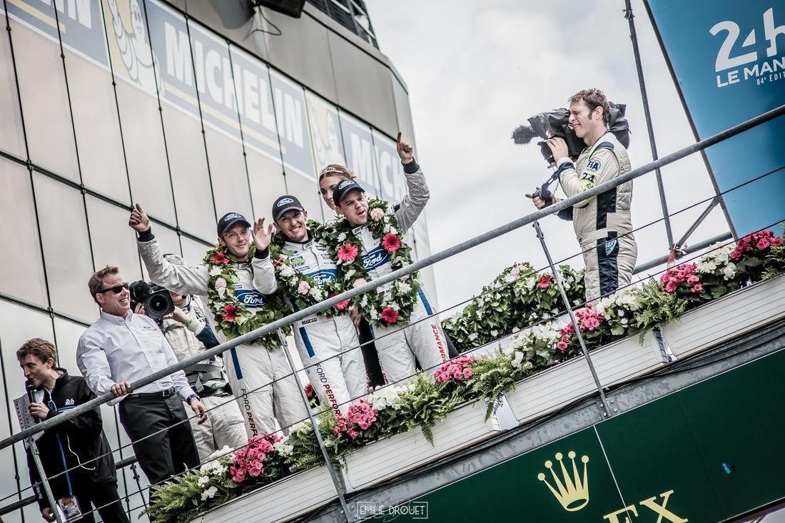24 Heures du Mans 2016 - Course/Race - Emilie Drouet - Ford GT podium LMGTE Pro