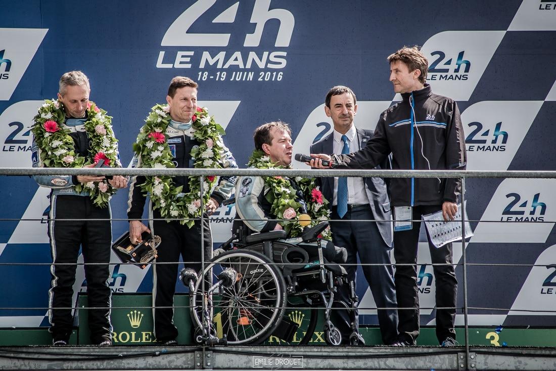 24 Heures du Mans 2016 - Course/Race - Emilie Drouet - podium stand 56