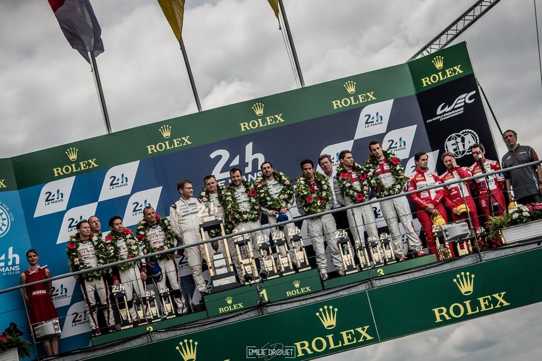 24 Heures du Mans 2016 - Course/Race - Emilie Drouet - podium LMP1