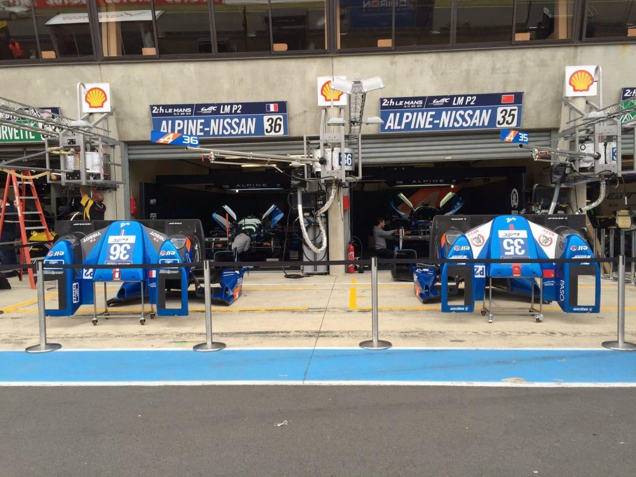 Alpine A460 #35 #36 – Journée test 24 Heures du Mans 2016