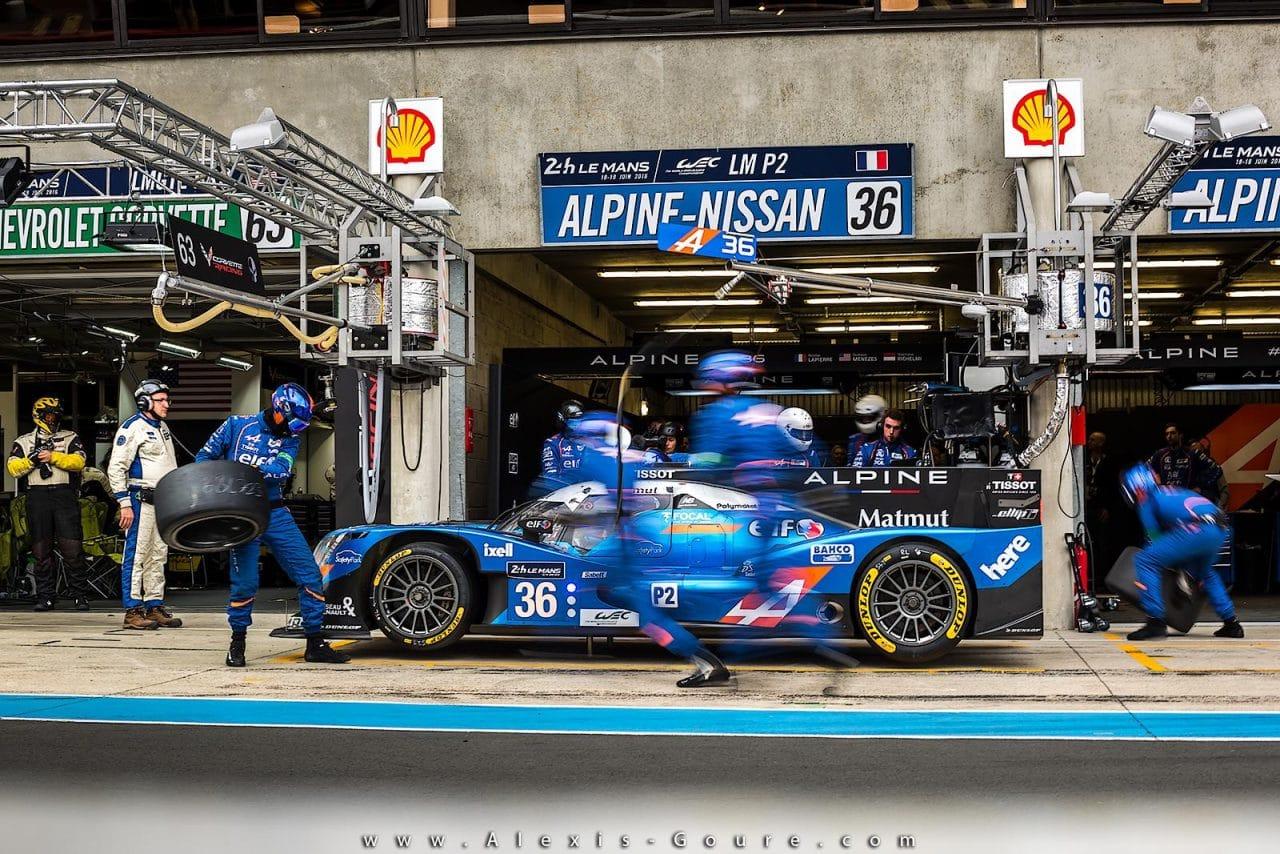 Alpine A460 #36 – Journée test 24 Heures du Mans 2016