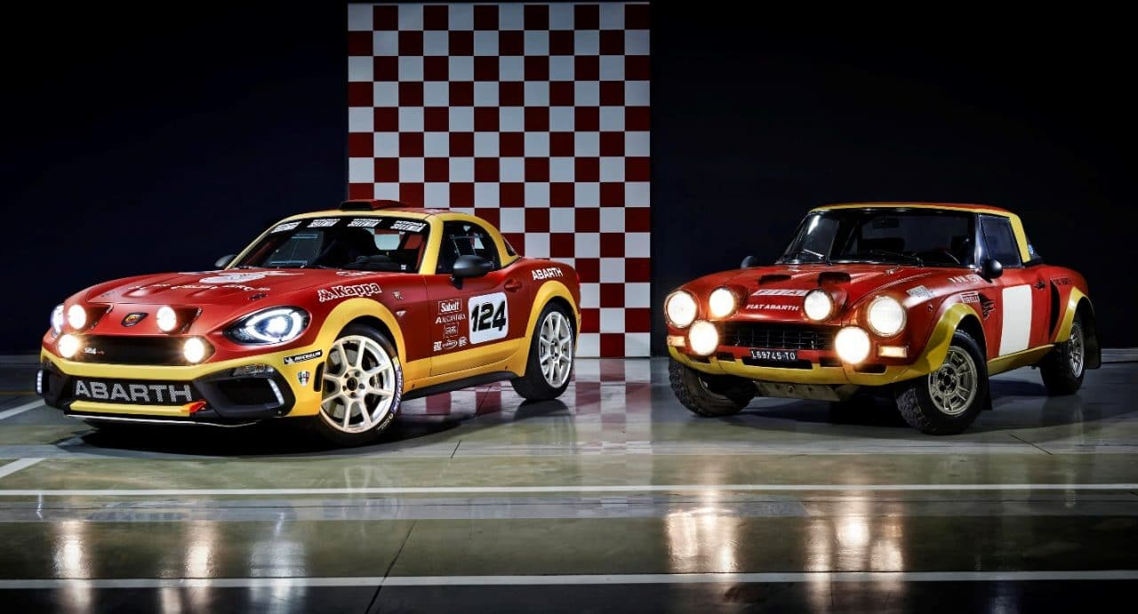 Abarth 124 Spider Rally (2016) et Fiat 124 Abarth Rally (1975)