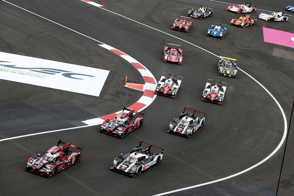 Porsche 919 Hybrid, Porsche Team 2: Romain Dumas, Neel Jani, Marc Lieb, Porsche Team 1: Timo Bernhard, Brendon Hartley, Mark Webber