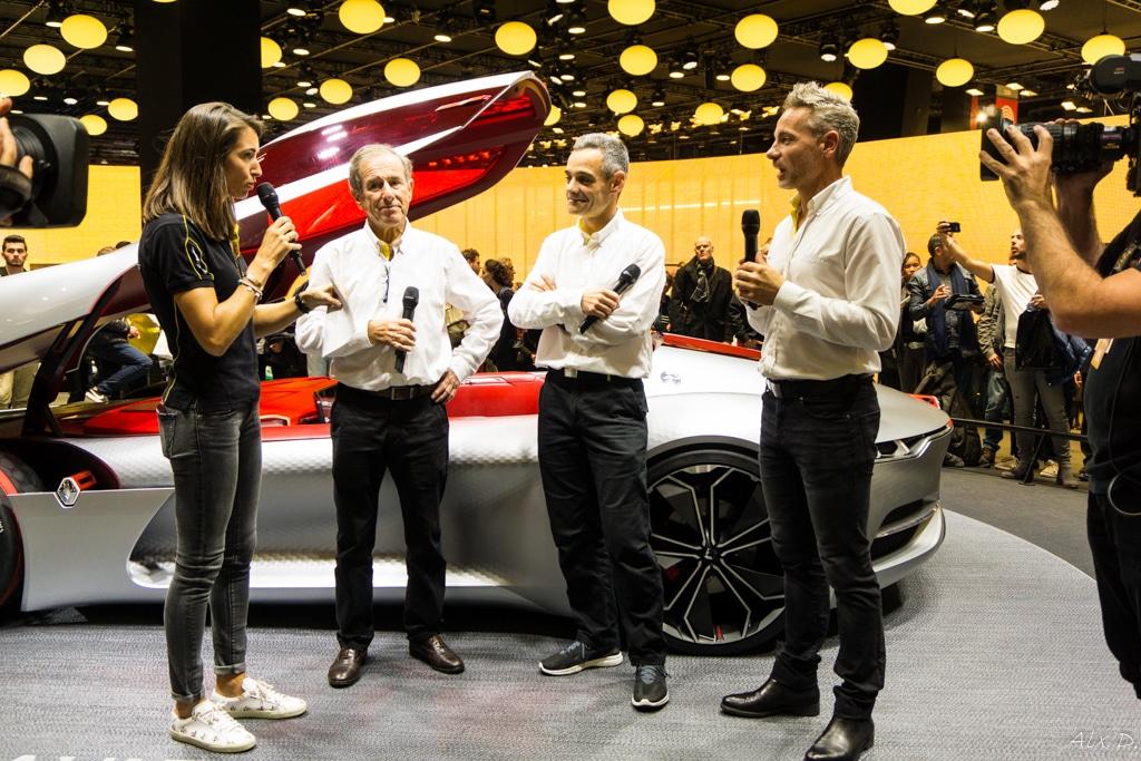 Mondial de l'Automobile Paris 2016 - Rencontre avec Renault Sport - M. Lafitte / J. Ragnotti / L. Hurgon / D. Praschl