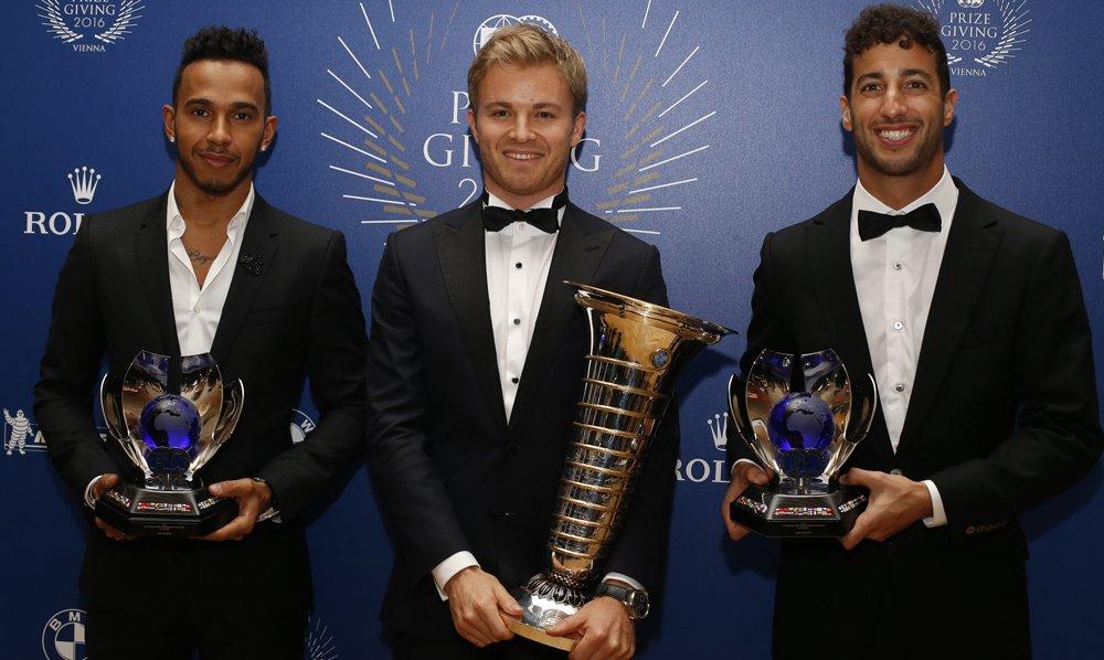 Formule 1 2016 - Nico Rosberg, Lewis Hamilton, Daniel Riccardo