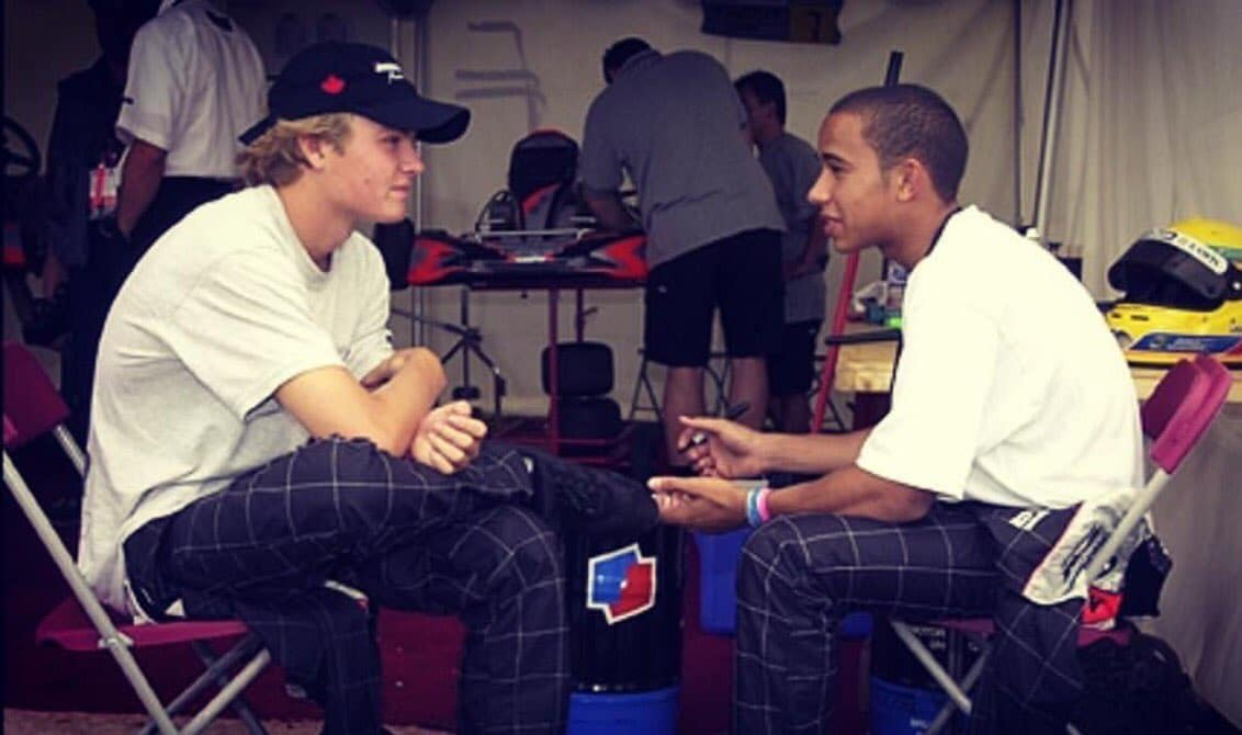 Nico Rosberg & Lewis Hamilton - karting