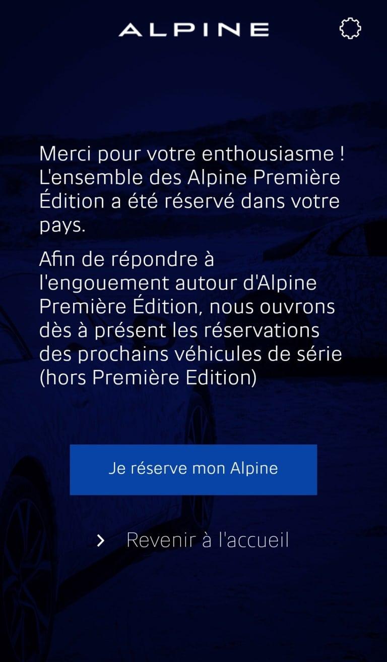 Alpine pré-commande 2017