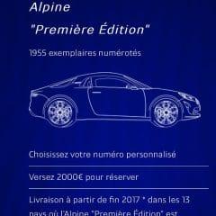 L'Alpine est réservable : A vos cartes bancaires !