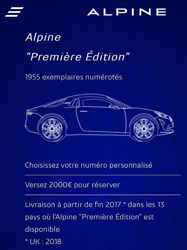 "Alpine ""Première Edition"""