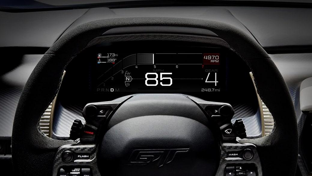 Ford GT digital dash board