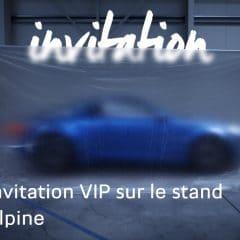 Les invitations Alpine sont lancées pour Genève !