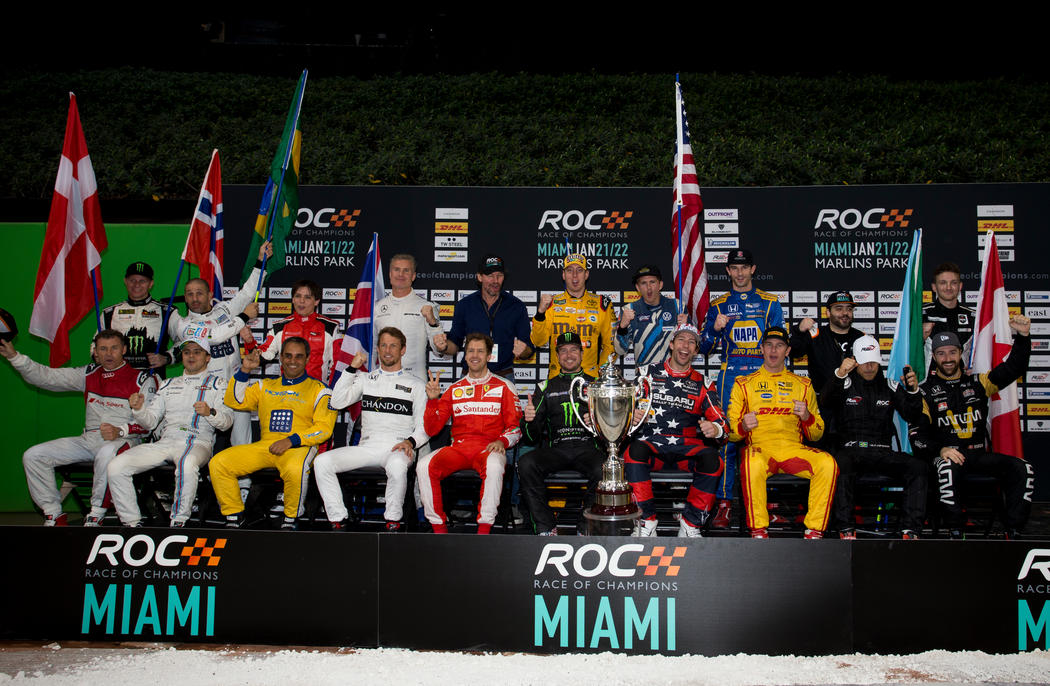 The drivers family photo during the ROC Nations Cup on Sunday 22 January 2017