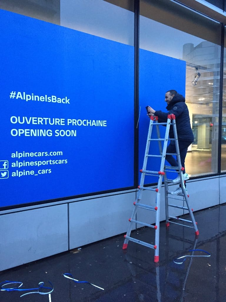 Alpine showroom Boulogne Billancourt