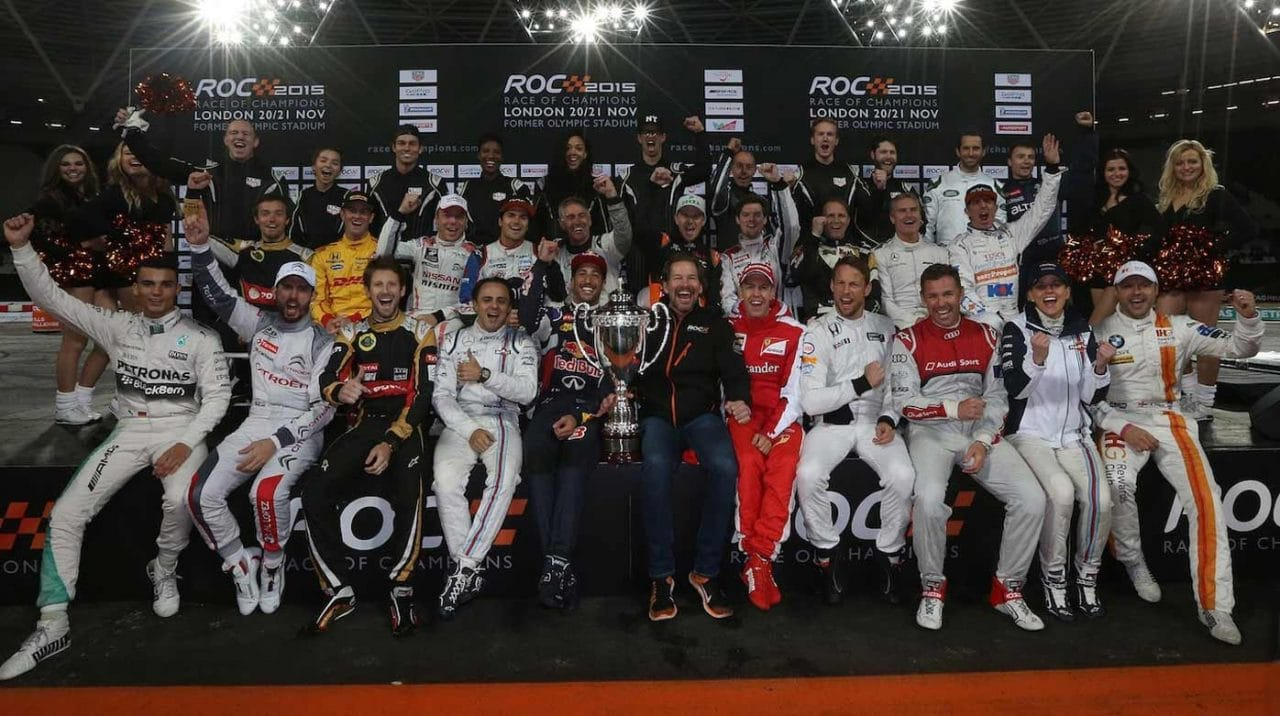 The drivers family photo during the ROC Sunday 22 January 2017