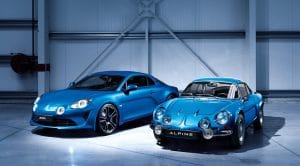 Alpine A110 2017 et Berlinette originale