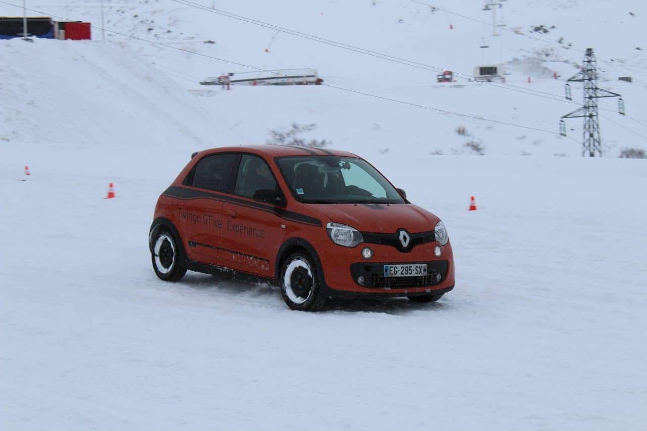 Renault Sport Twingo GT Ice Driving