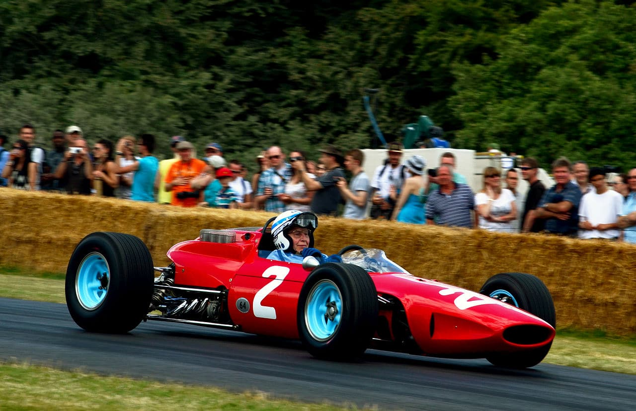 John Surtees Ferrari 158 FOS Goodwood 2014
