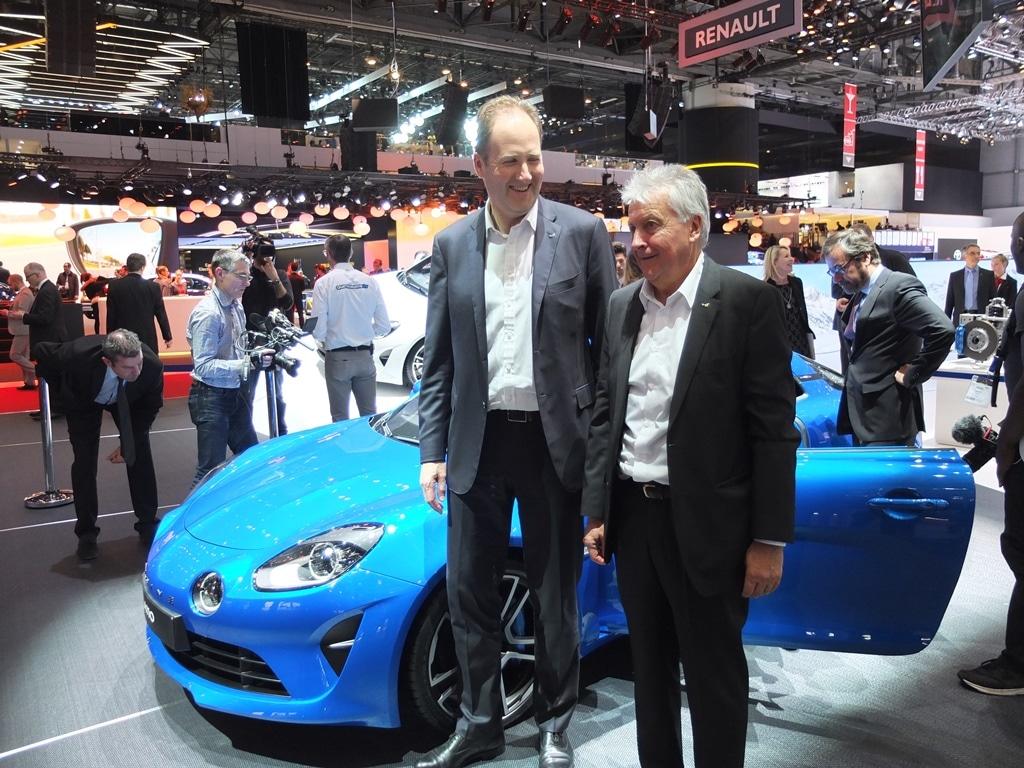 Michael van der Sande (PDG Alpine) et Bernard Ollivier (DGA Alpine)