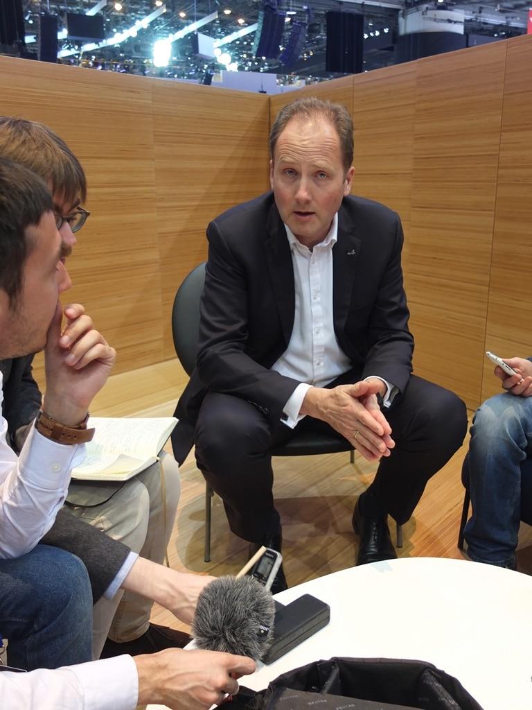 Interview Michael van der Sande PDG d'Alpine Salon de Genève 2017