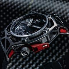 "Hublot Techframe Ferrari 70 Years Tourbillon Chronographe : Pour les 70 ans du ""Cavalino Rampante"""