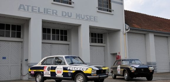 Peugeot au Tour Auto 2017 en 204 et 504