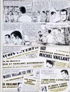 """Michel Vaillant - Planche album """"Série noire"""" (1971)"""