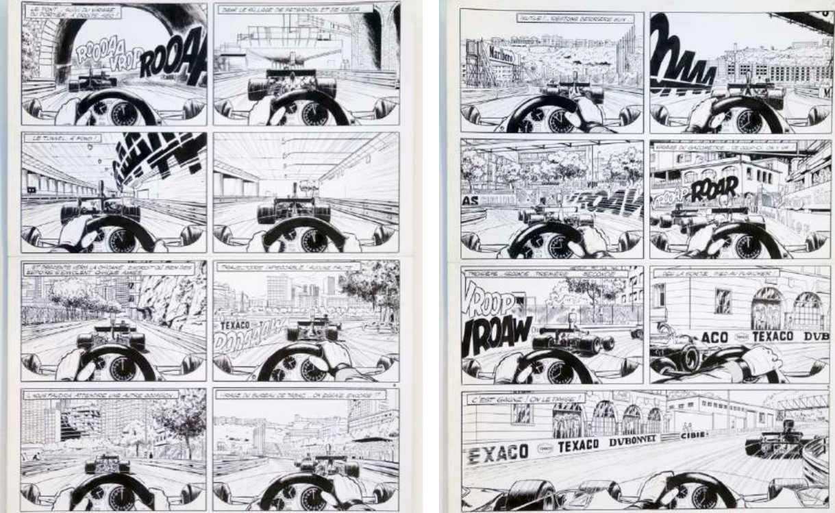 """Michel Vaillant - Planche album """"Champion du monde"""" (1973)"""