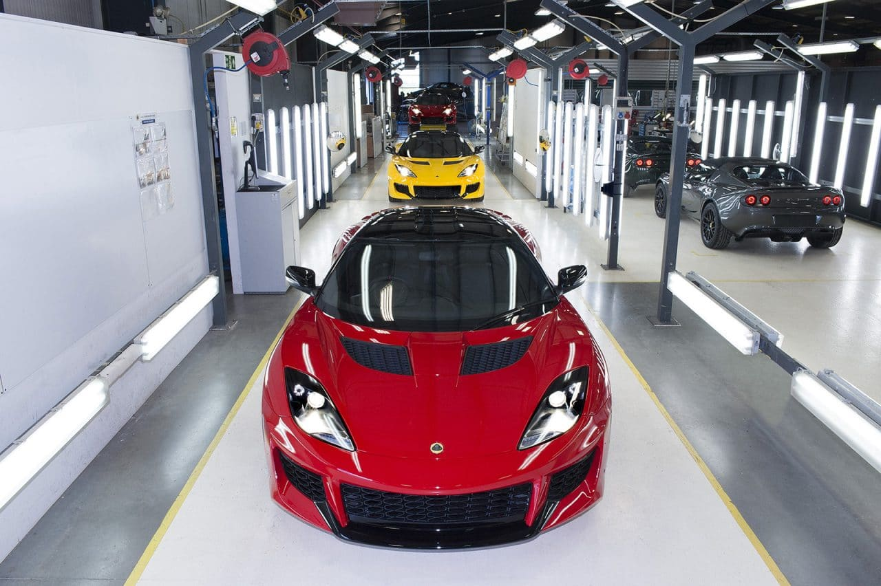 Visite usine Lotus