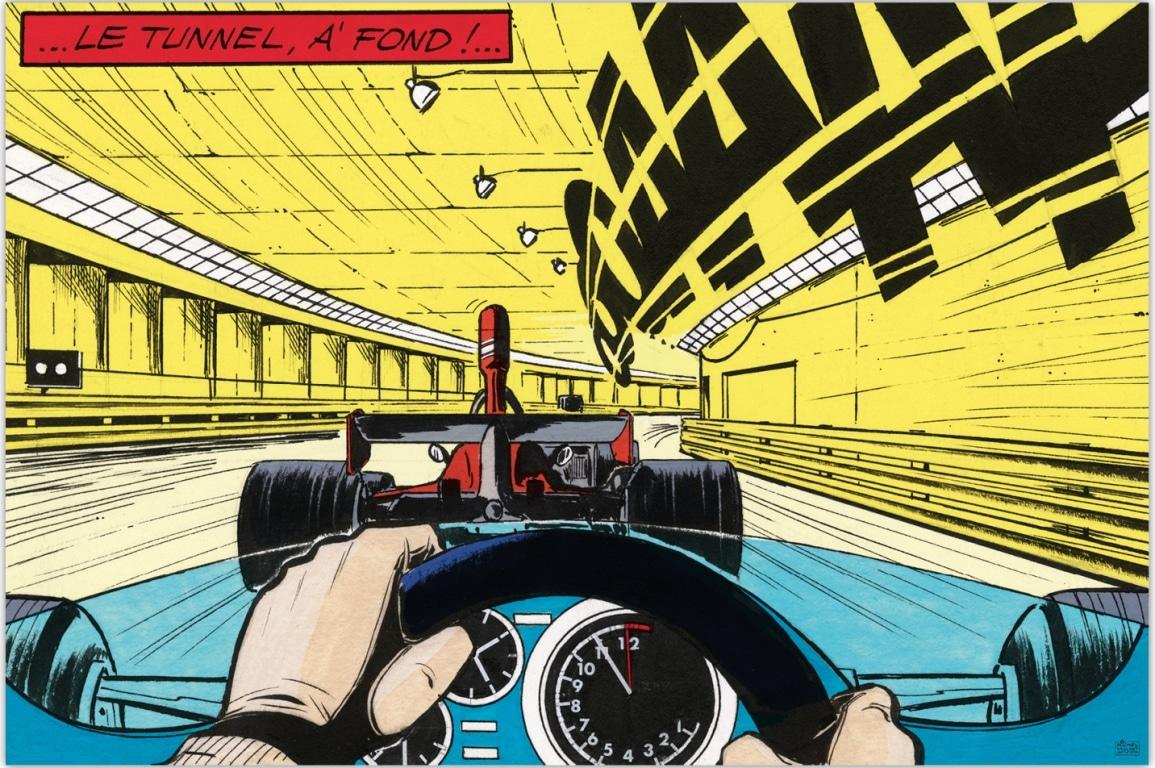 """Exposition Michel Vaillant à Monaco du 4 au 9 mai – Art Strips """"A fond !"""""""