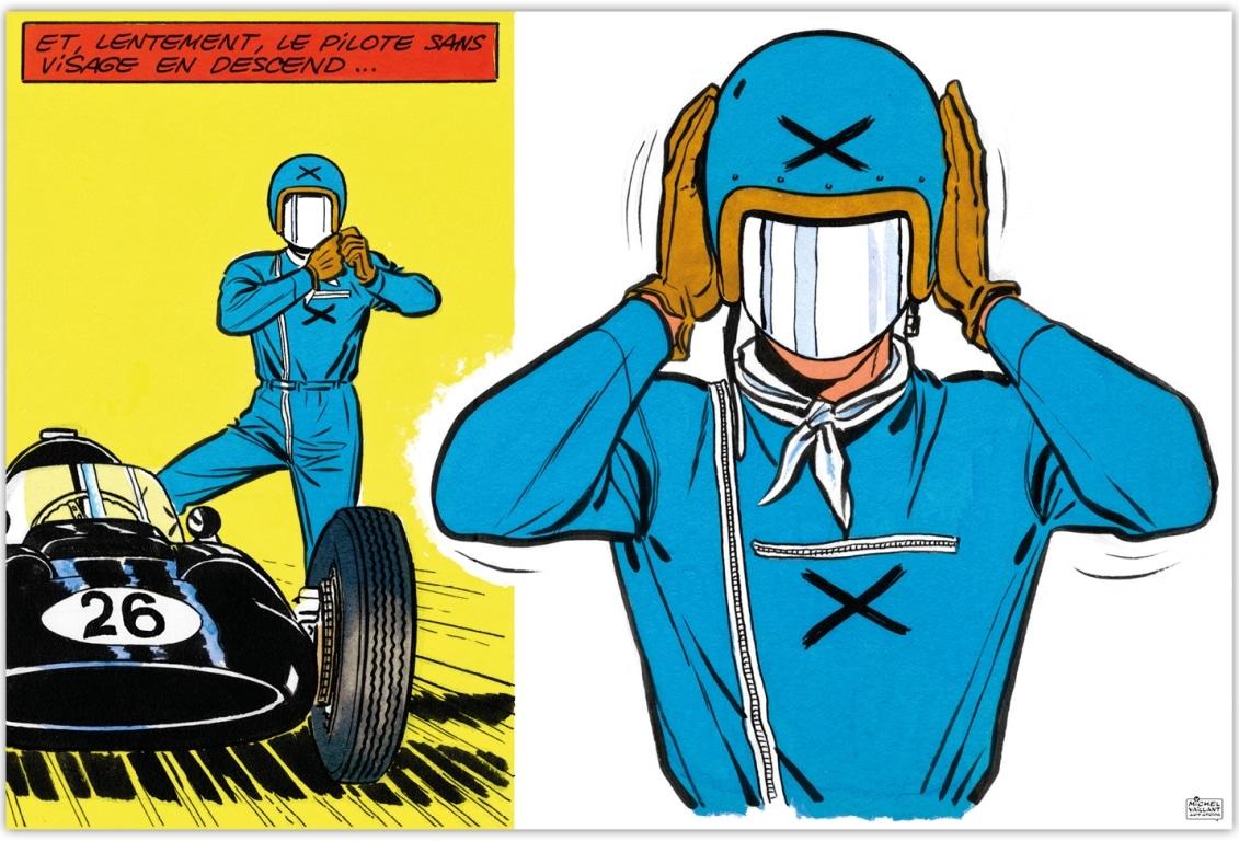 """Exposition Michel Vaillant à Monaco du 4 au 9 mai - Art Strips """"Le pilote sans visage"""""""