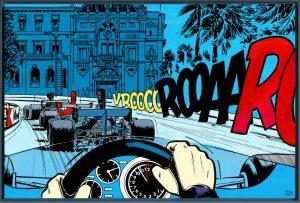 """Exposition Michel Vaillant à Monaco du 4 au 9 mai - Art Strips """"Casino"""""""