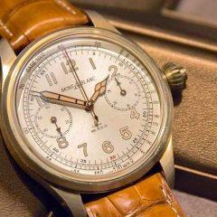 Montblanc 1858 Chronograph Tachymeter Édition Limitée : Bronze vintage
