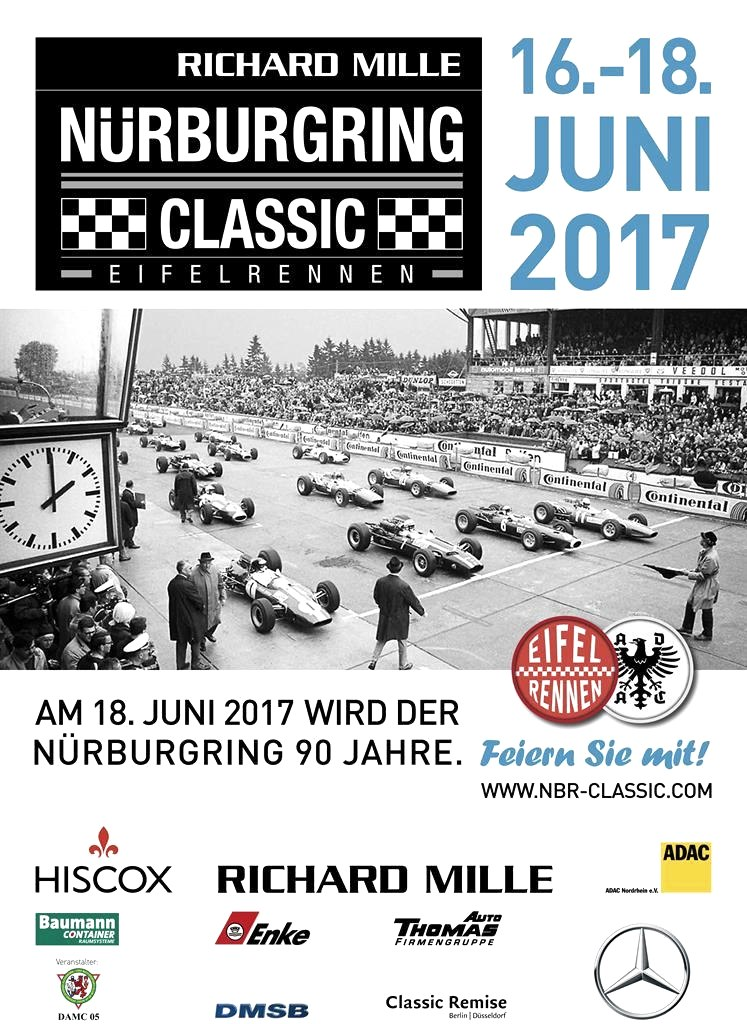 Nurburgring Classic - affiche 2017