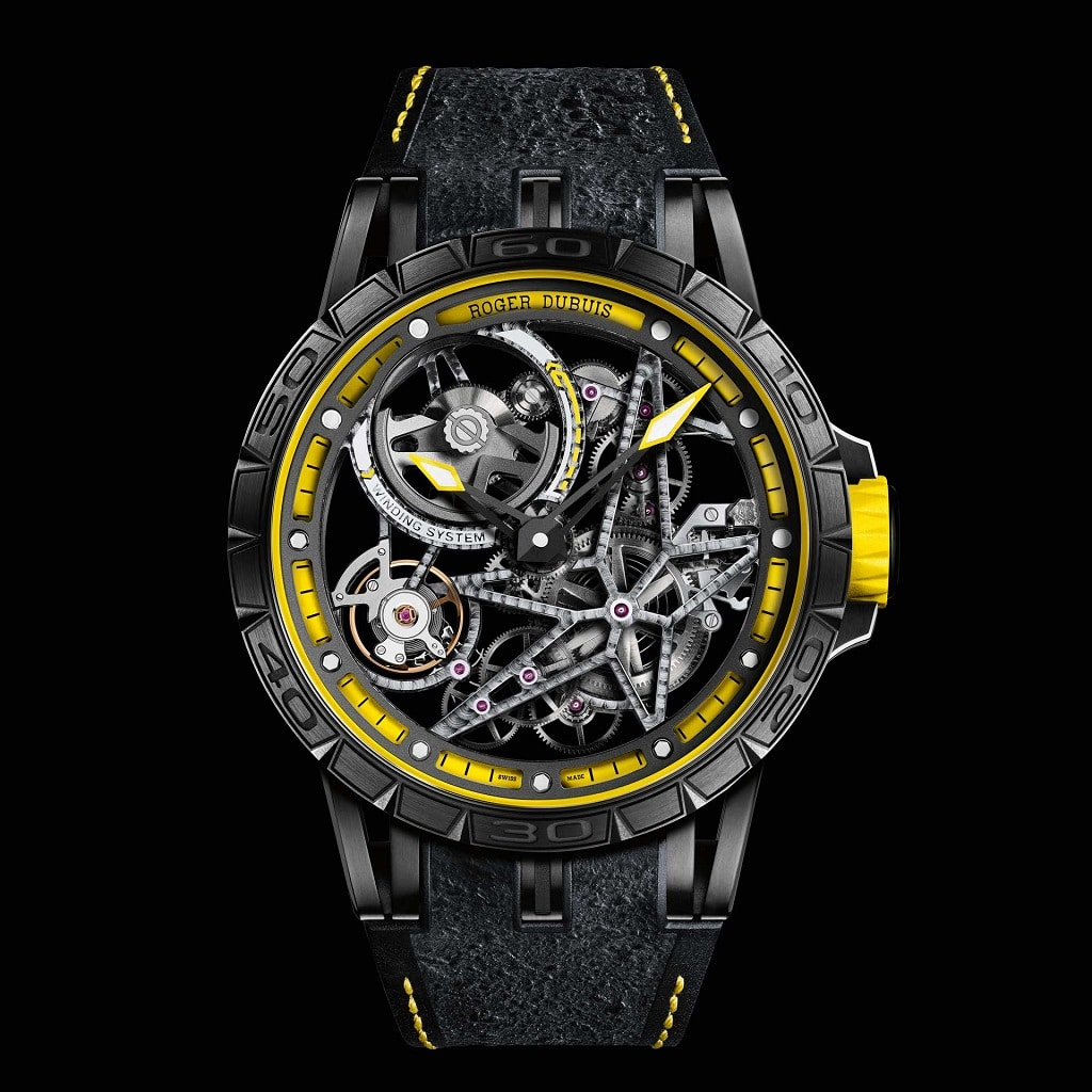 Roger Dubuis Excalibur Spider Pirelli Squelette Automatique Yellow edition