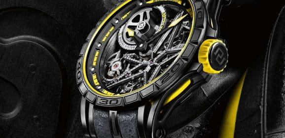 Roger Dubuis Excalibur Spider Pirelli Squelette Automatique Red et Yellow editions
