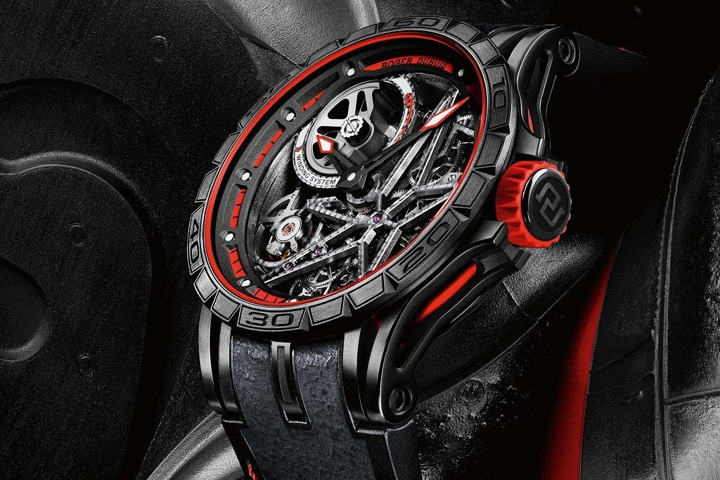 Roger Dubuis Excalibur Spider Pirelli Squelette Automatique Red edition