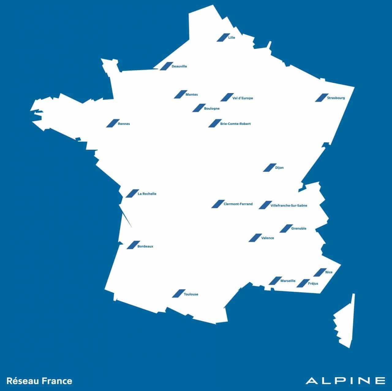 Alpine réseaux de distribution 2017