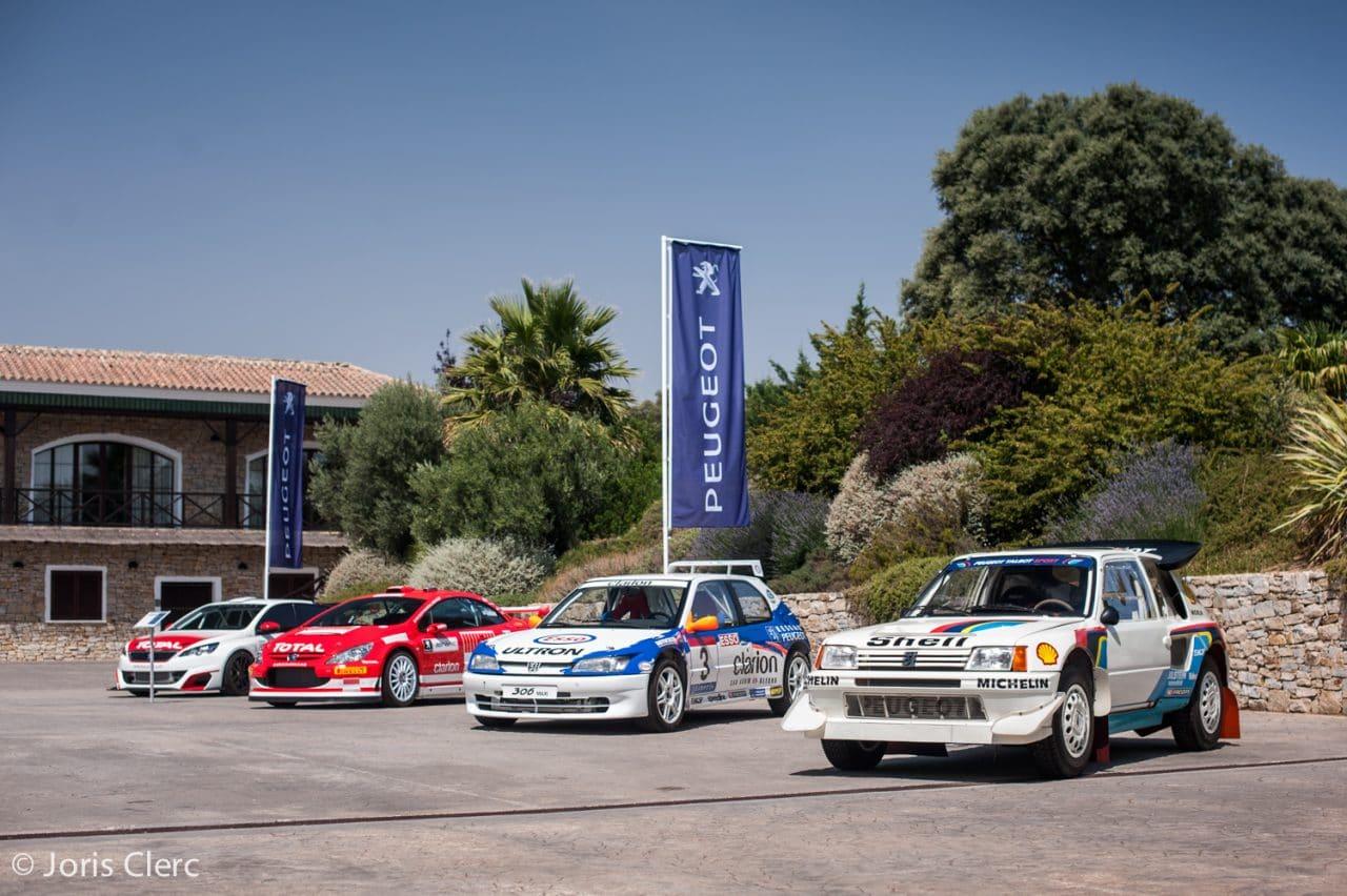 Peugeot 205 T16, 306 Maxi, 307CC WRC & 308 Racing Cup - Circuito Ascari Resort - Joris Clerc ©