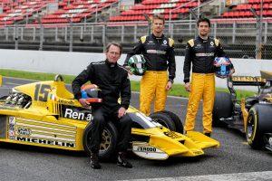 Renault 40 ans de F1 - Silverstone GP 2017 - Jabouille, Hulkenberg, Palmer