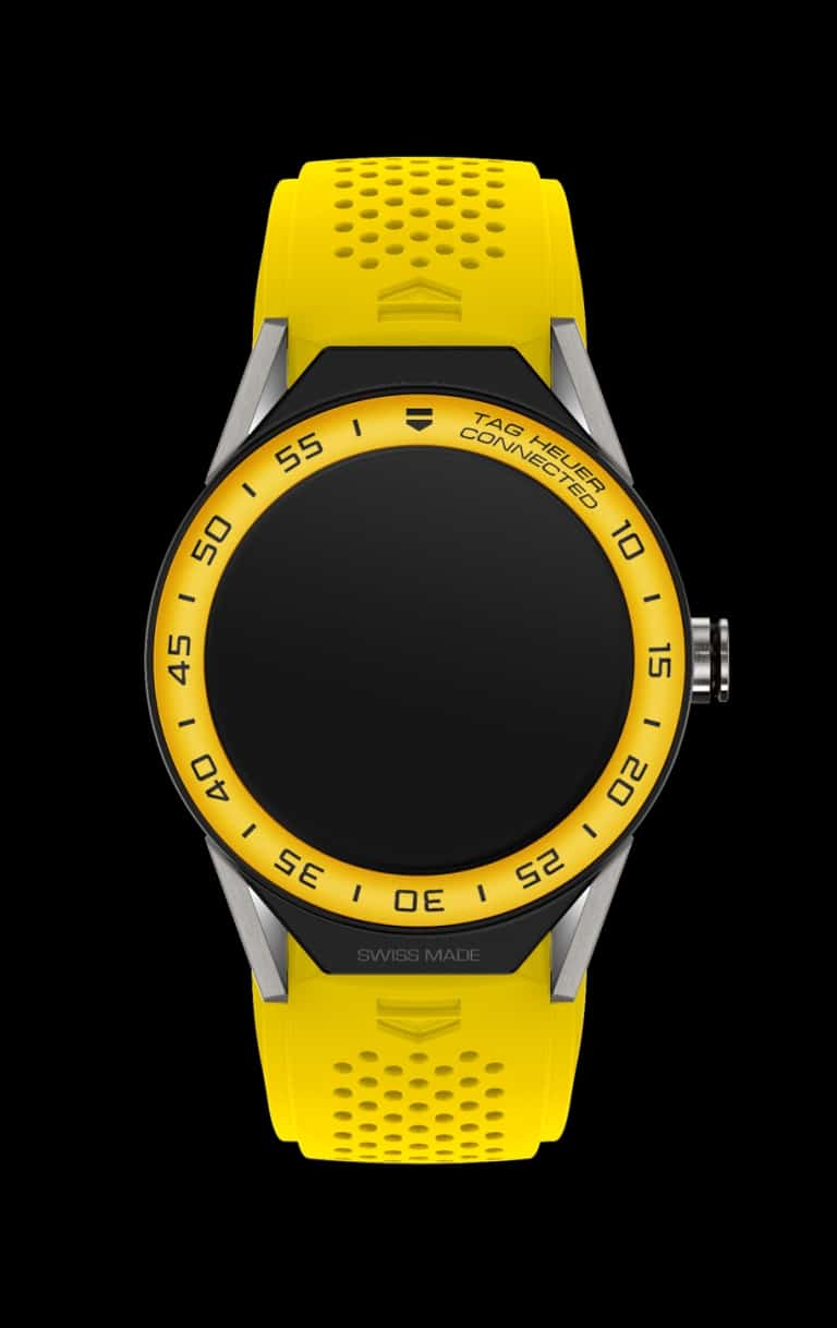TAG Heuer Connected Modular 45 Yellow Strap_black