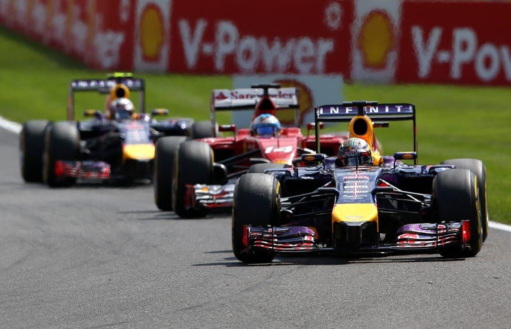 Red Bull Renault F1 RB10 2014 - Daniel Ricciardo, Fernando Alonso, Sebastian Vettel
