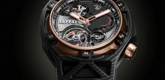 Hublot Techframe Ferrari 70 Years Carbone Peek & King Gold Tourbillon Chronograph