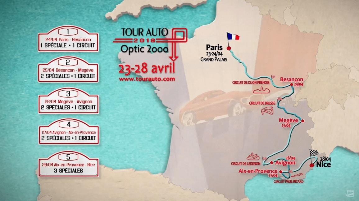 Tour Auto 2018 - parcours
